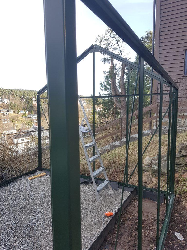 Sidevegg drivhus