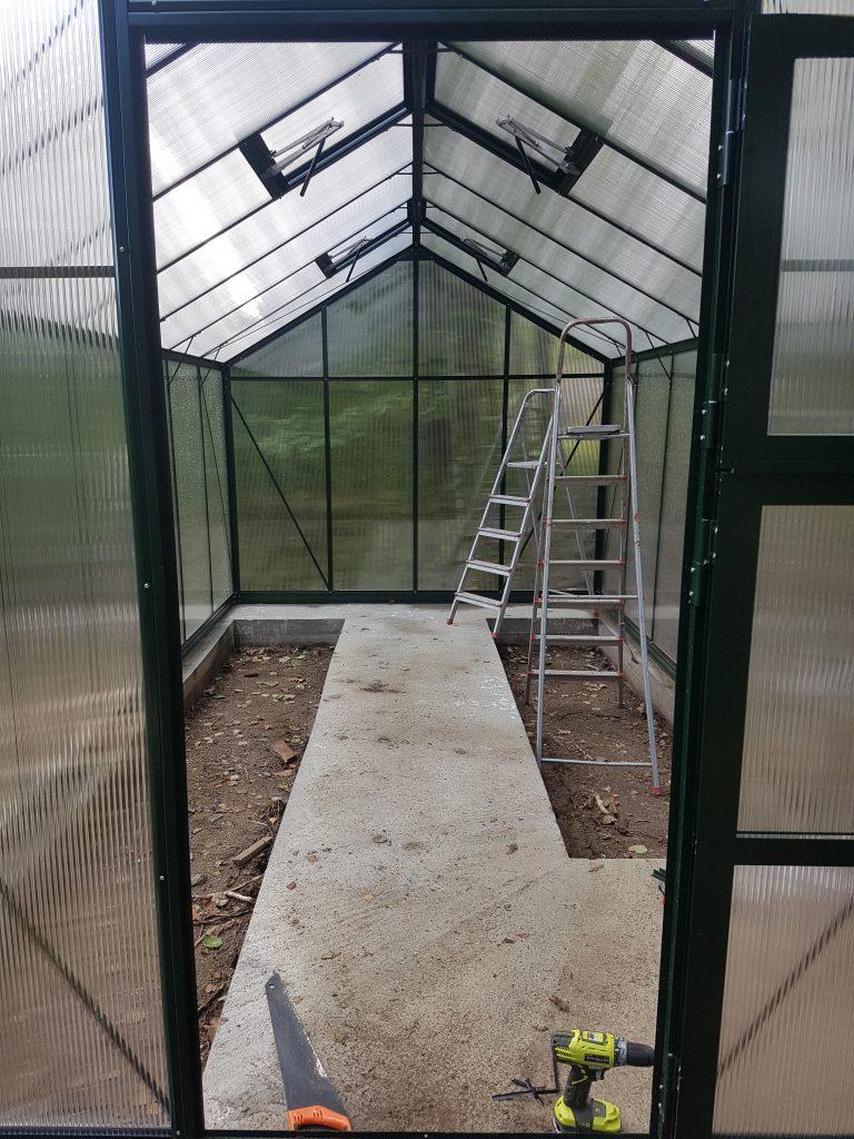 montering av drivhus