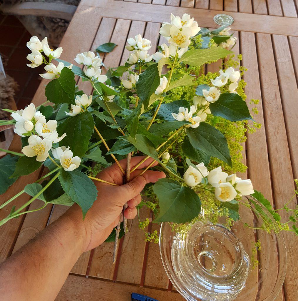bukett med blomster