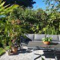 sittegruppe og rom i hagen