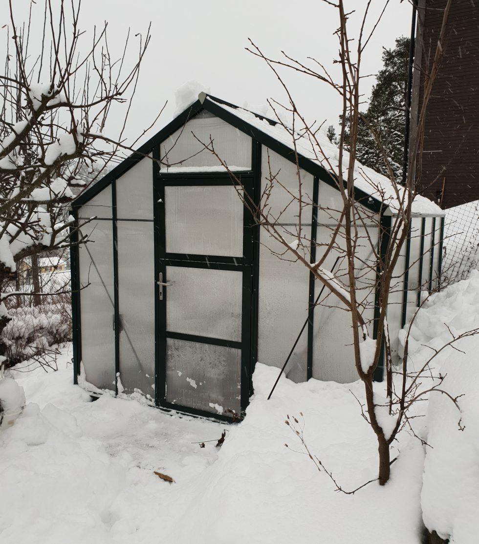 drivhus under snøen